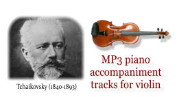 Tchaikovsky Violin Concerto - MP3 download - Piano accompaniment